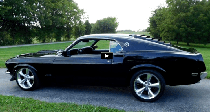 Sleek Jet Black 1969 Ford Mustang With Built 302 1969 Mustang