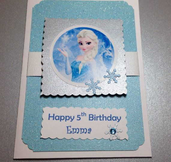 Frozen Birthday Card Free Personalize Elsa Card By Designsbyalia