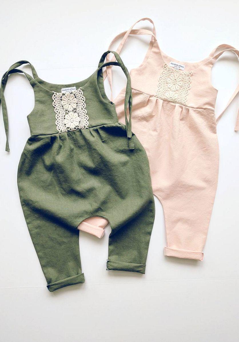 f61f97e79 Handmade Linen   Lace Jumpsuits