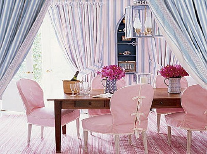 Room Pink Dining Chairs Covers