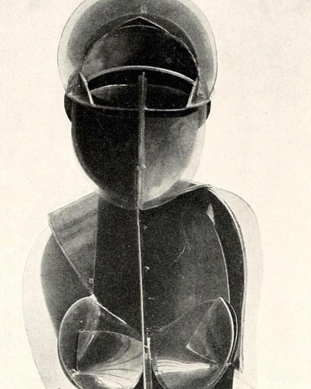 Thinking about my armor and how I might make it a little less rigid and a little more porous. Antoine Pevsner 1935 via @panandthedream