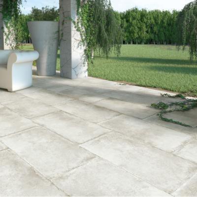 Carrelage terrasse anti-dérapant effet pierre 50x100 Olimpia Grip