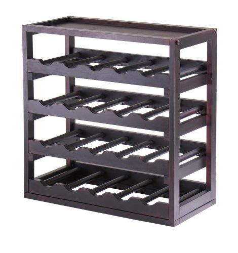 Winsome Woodu0027s new Kingston Collection for wine storage is designed to coordinate with other pieces in the line stand alone as a single unit or stack to ...  sc 1 st  Pinterest & Best Wine Rack | Winsome Wood Kingston Removable Tray Wine Storage ...