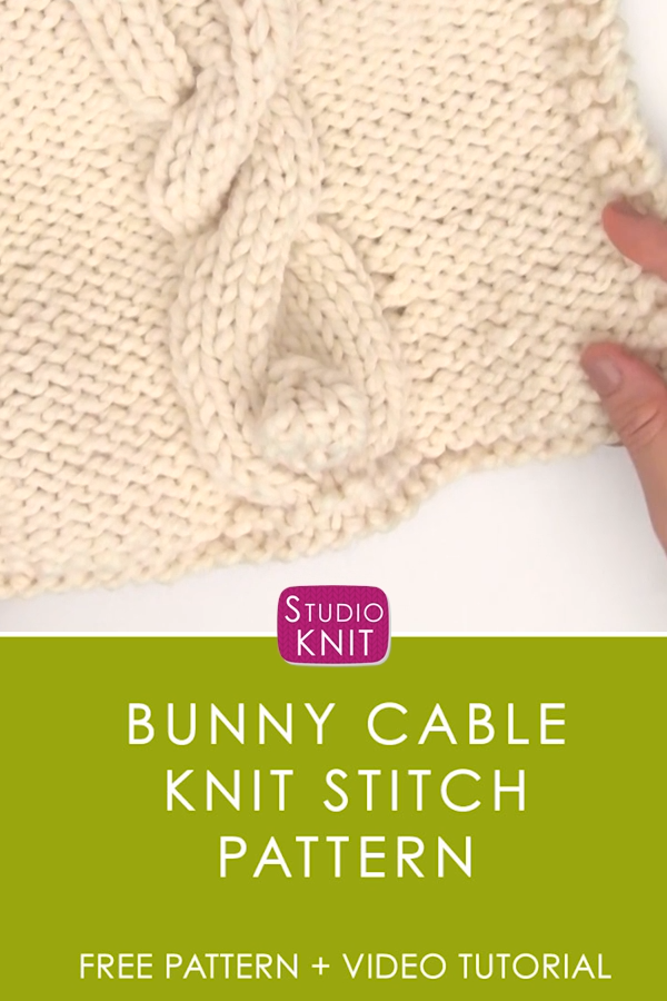 Photo of Bunny Cable Knit Stitch Pattern with Video Tutorial