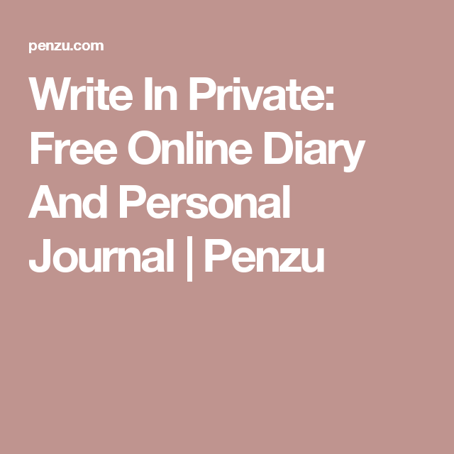 online personal journal