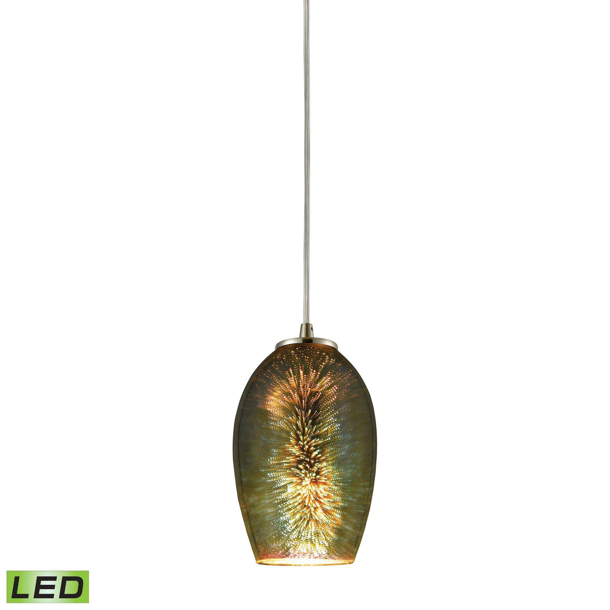 ELK Lighting 10506/1-LED Illusions Collection Satin Nickel Finish