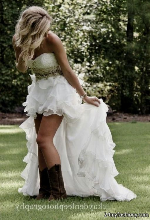 high low wedding dresses with cowgirl boots - Google Search ...