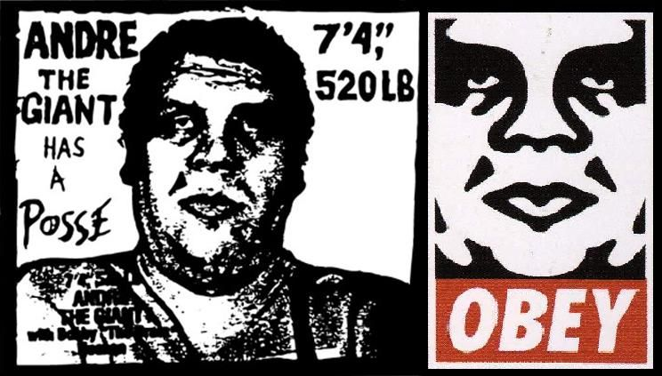 The shepard fairey posse obey giant stickers from interview drawing the life of
