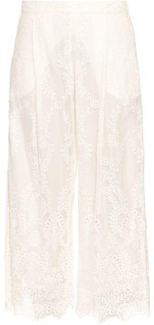 ZIMMERMANN Belle silk-chiffon embroidered trousers