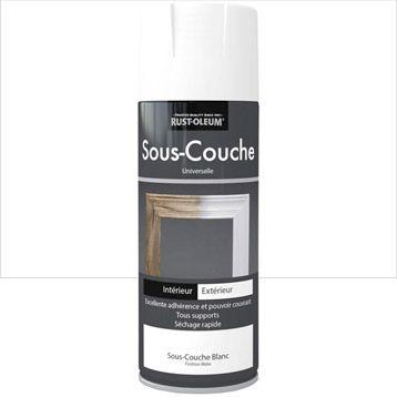 Attractive Sous Couche En Bombe Aérosol Intérieur / Extérieur RUSTOLEUM, Blanc, 0.4L