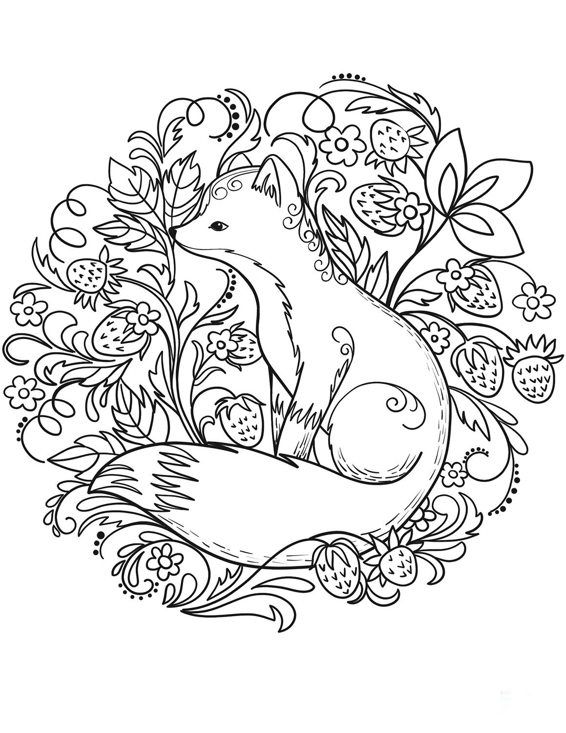 Pin By Megan Dawson On Sketches Drawings Coloring Fox