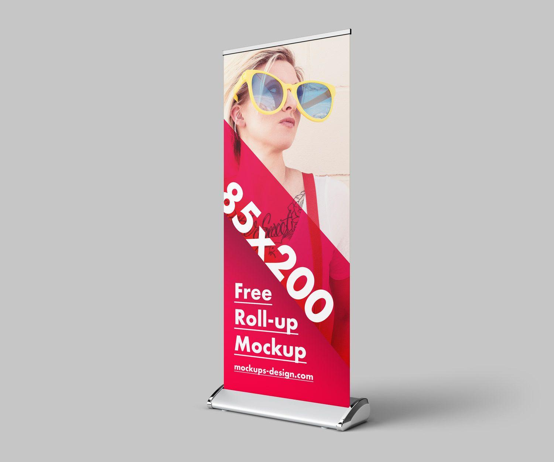 Roll Up Mockup Free Psd Mockup Free Psd Free Mockup Mockup Design