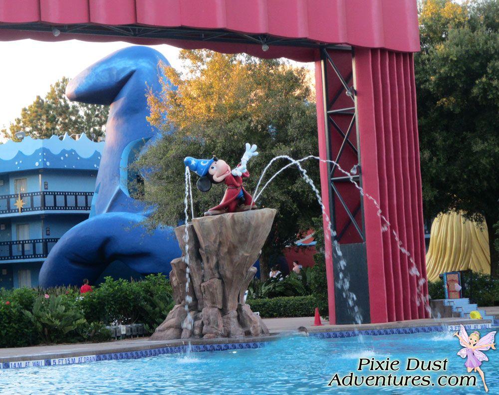 Disney's AllStar Movies Resort main pool. Melissa Pixie