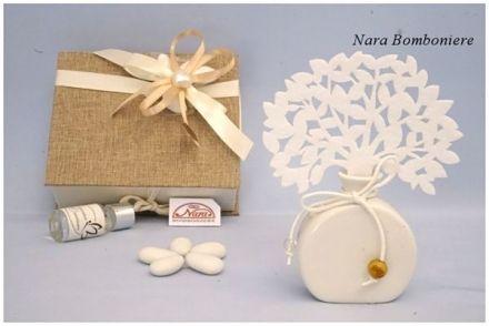 Nara Bomboniere Matrimonio.Bomboniere Diffusore Albero Della Vita Bianco Bomboniere Per