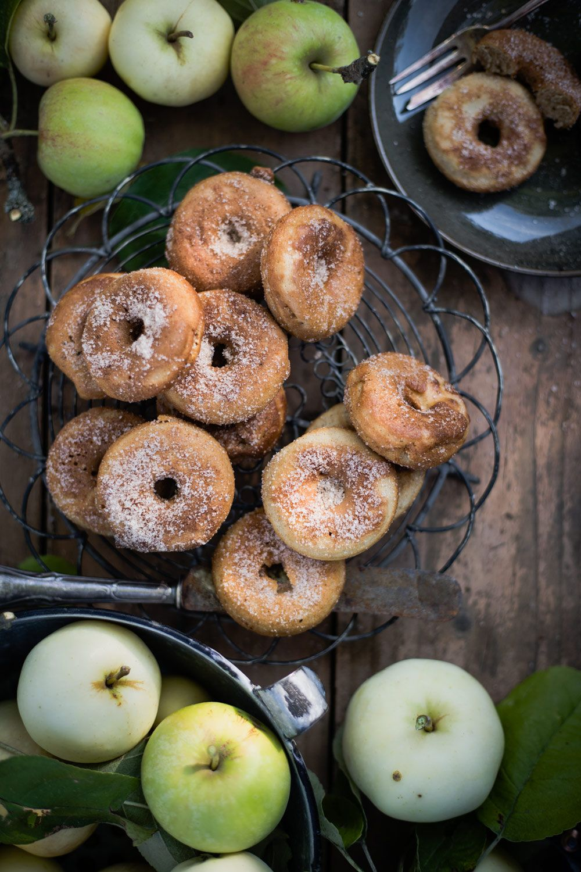Apfel Donuts mit Zimt-Zucker aus dem Donutmaker
