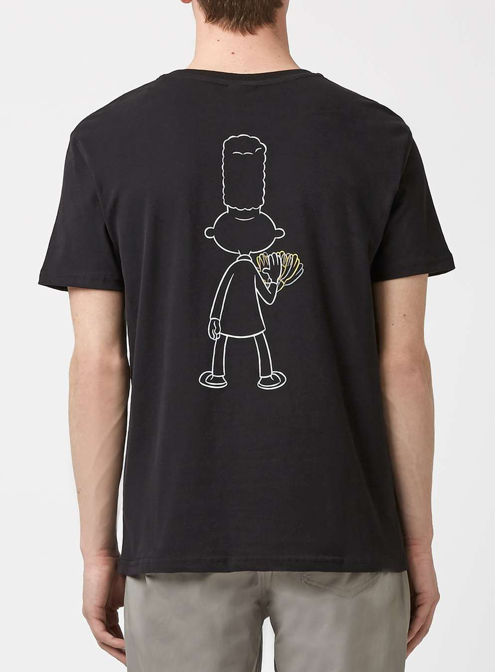 47a29ae5d71 Nickelodeon Black Hey Arnold Gerald Print T-Shirt - Topman