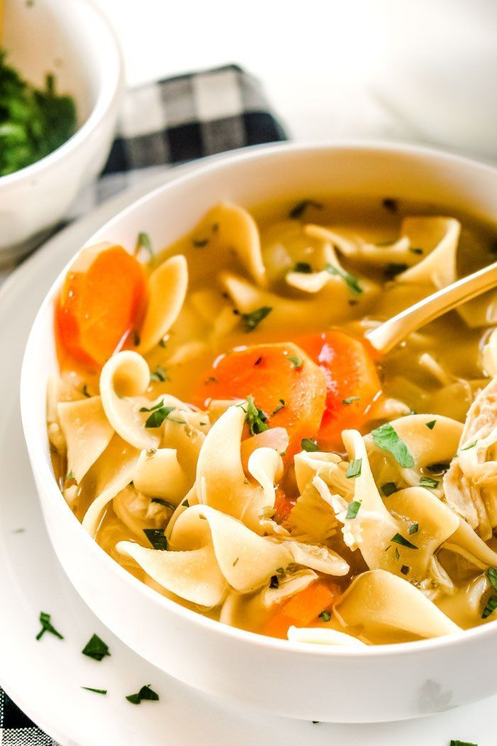 make this easy onepot rotisserie chicken noodle soup