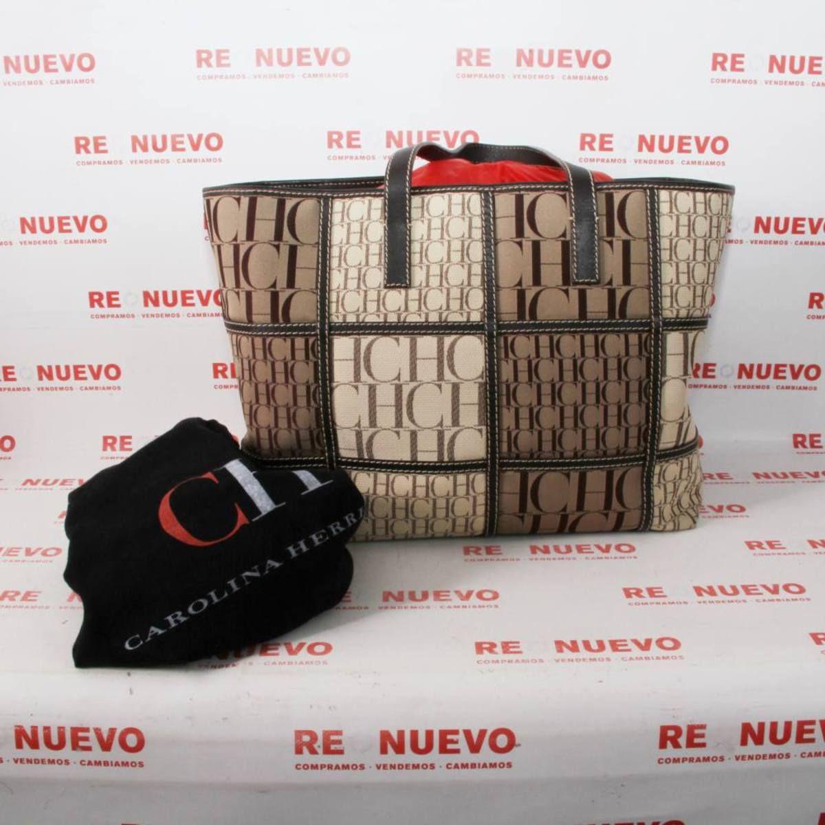 incomparable excepcional gama de estilos moderno y elegante en moda Comprar Bolso CAROLINA HERRERA SHOPPING PATCHWORK de segunda ...