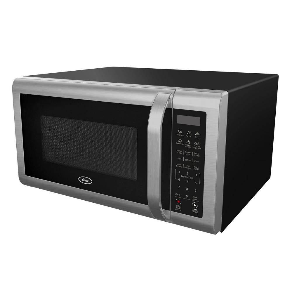 Oster 1 4 Cu Ft Countertop Microwave In Black Stainless Steel