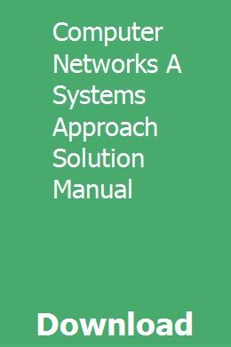 Computer Networks: A Systems Approach - Open Textbook Library
