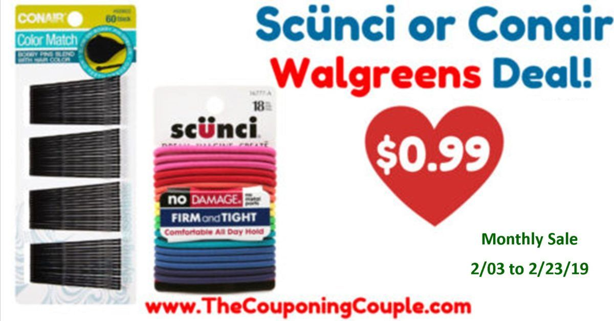 image about Conair Printable Coupons known as Scunci Hair Elastics or Conair Bobby Pins Just $0.99
