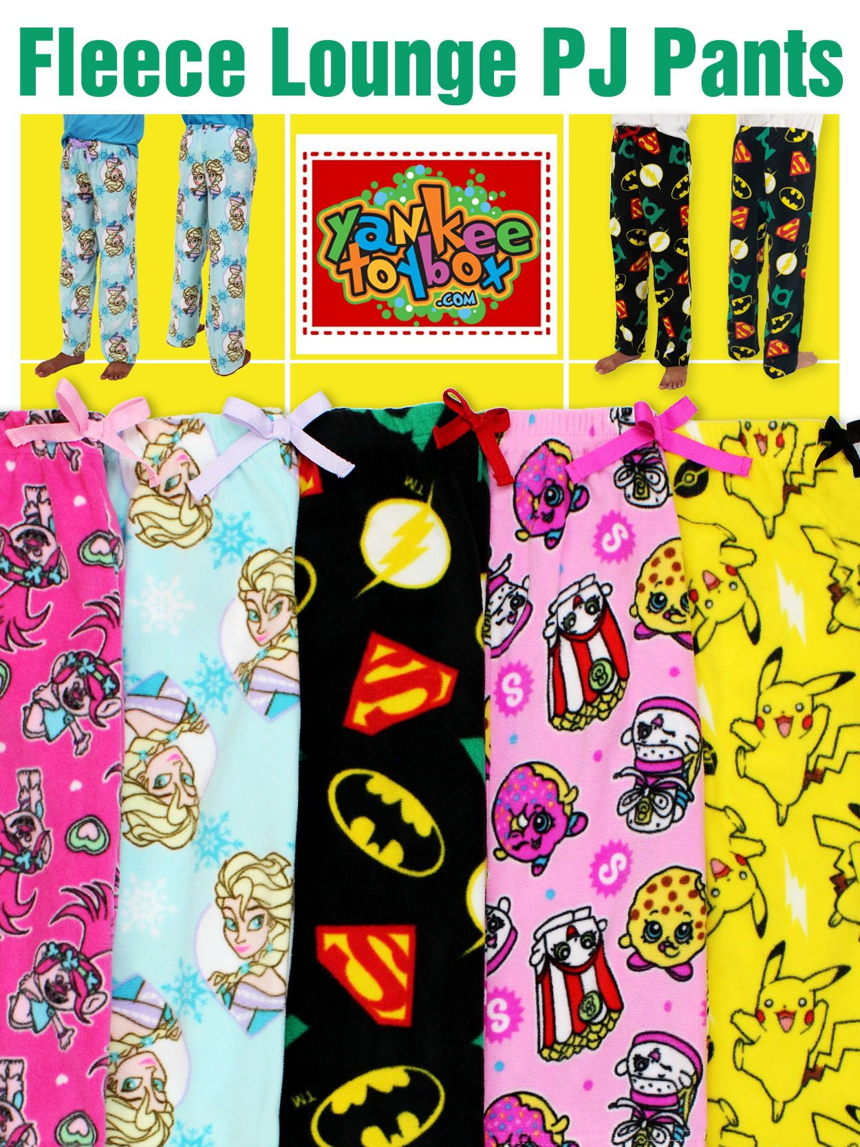 091585a0d4 Get ready for adventure with any of these awesome girls and boys plush  fleece pajama pants