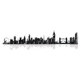 London Skyline Wall Decal London Cityscape Vinyl Wall Decals