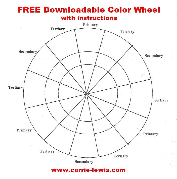 Free Color Wheel Template Art Education Pinterest Free - color chart template
