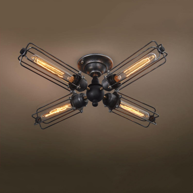 4-Armed Industrial Ceiling Light | Industrial ceiling ...
