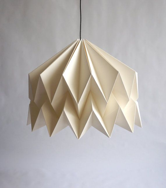isadora origami paper lampshade origami lamps pinterest. Black Bedroom Furniture Sets. Home Design Ideas