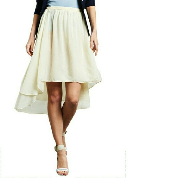 46e9c4a87 NU CONSTRUCTION High- low Skirt, Off White ,chiffon material ,very  attractive and chic! NU CONSTRUCTION Skirts High Low