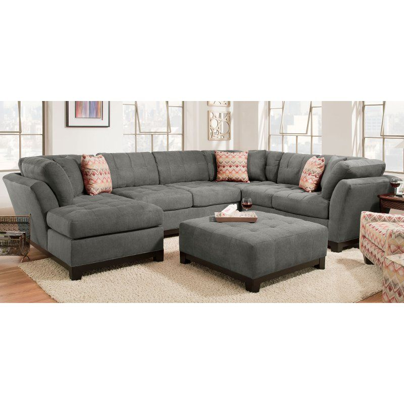 Contemporary Gray 3 Piece Sectional Sofa With Laf Chaise Loxley 3 Piece Sectional Sofa Family Room Design Living Room Designs
