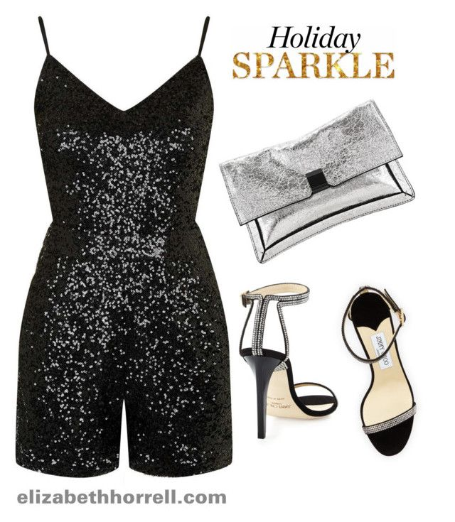 HAPPY NEW YEAR! by elizabethhorrell on Polyvore featuring polyvore fashion style Topshop Jimmy Choo Loeffler Randall clothing