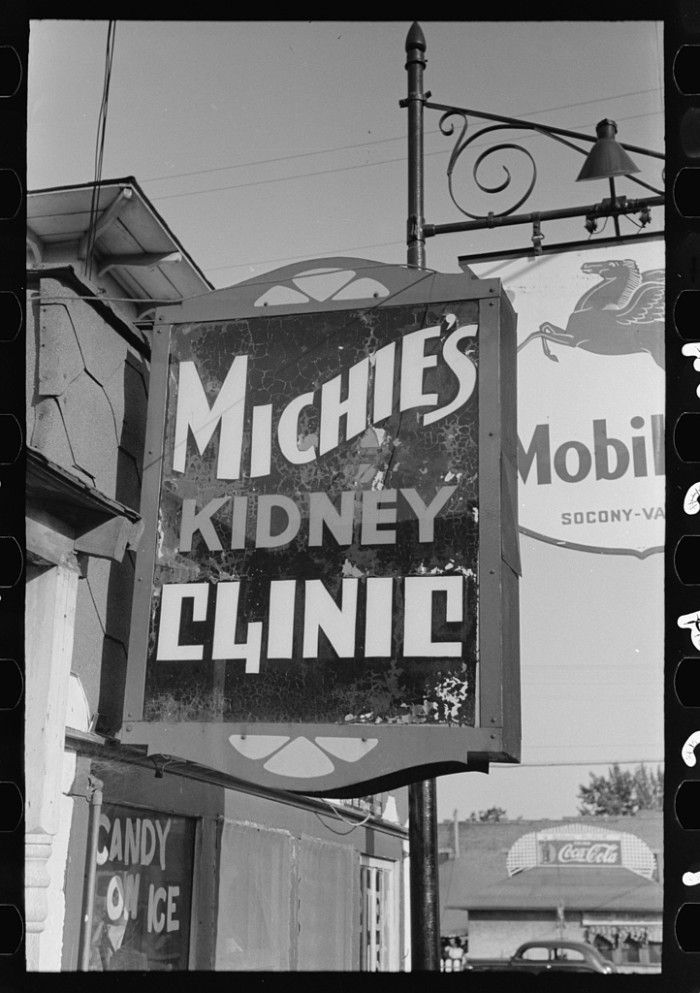 13.A sign in Steele, August 1938.