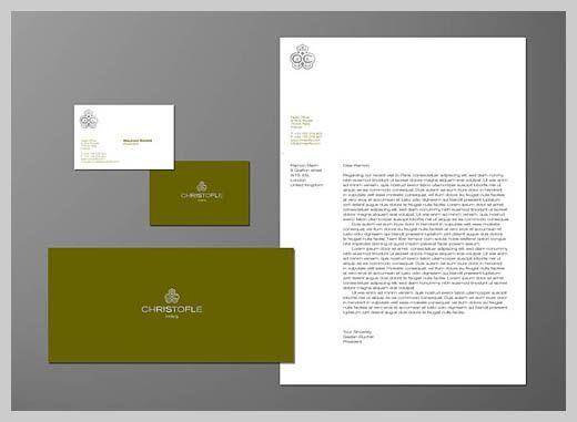 Company Letterhead Design - Christofle Manaia Brand Refs - letterhead example
