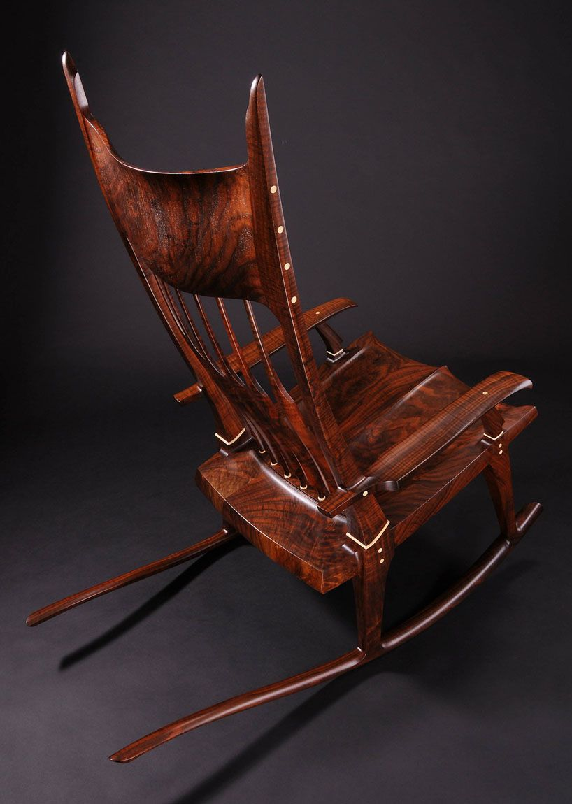 Amazing Claro Walnut And Holly Rocking Chair By Ken Richards