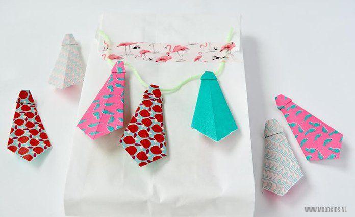 Zelf Maken Een Origami Stropdas Voor Vaderdag Kaartjes