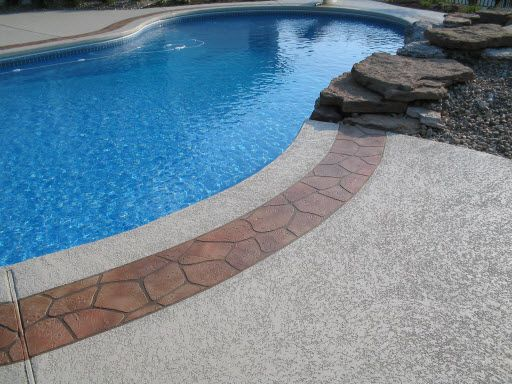 cool deck for pools |  pool deck st louis, stone boarder st
