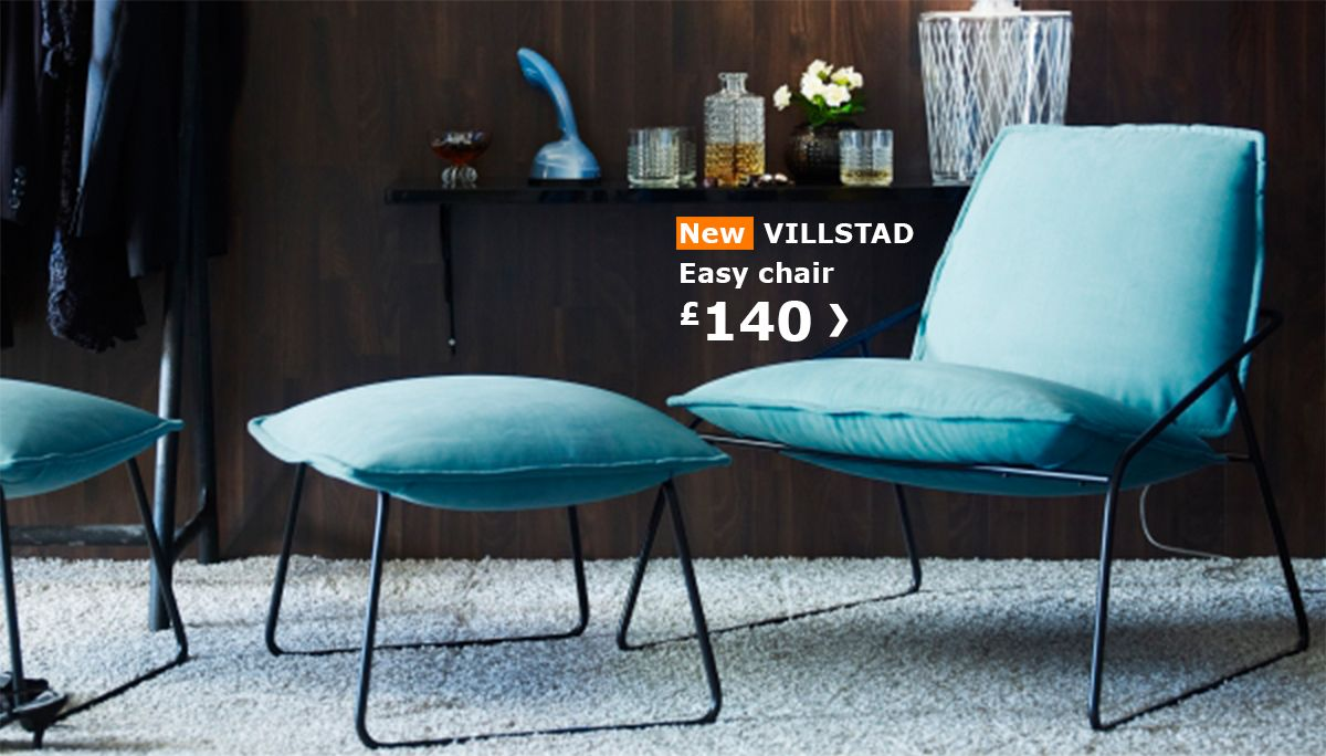Ikea Liegesessel New Ikea Villstad Easy Chair And Footstool Einrichten Ikea
