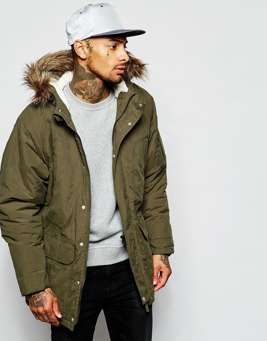 Supremebeing Parka Jacket With Faux Fur Hood | Hey Bae | Pinterest ...