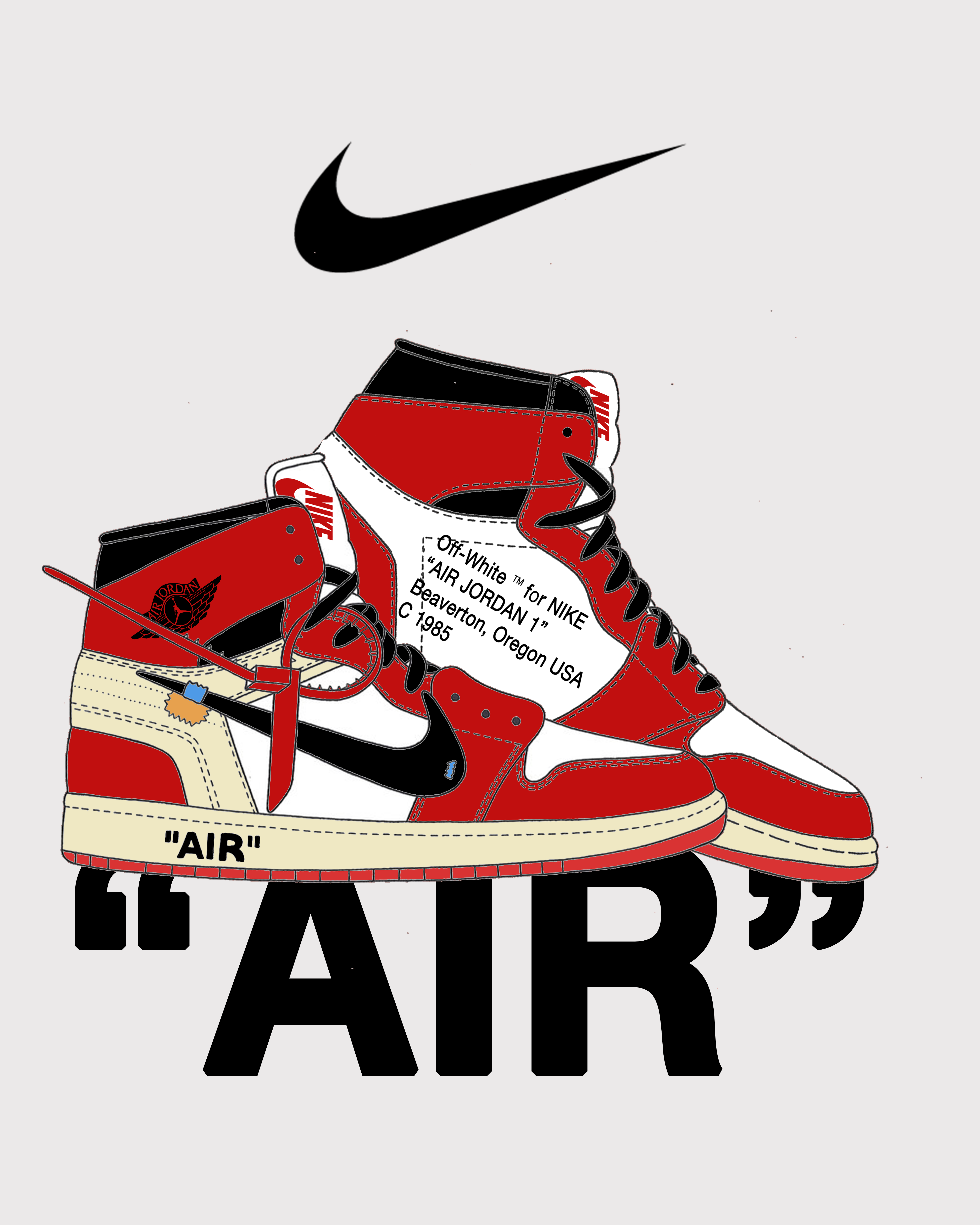 off white tm for nike air jordan 1 beaverton oregon usa c1985 sfondi per iphone sfondi pinterest