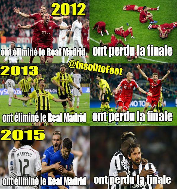 La Malediction Du Real Madrid Madrid Real De Madrid Humour
