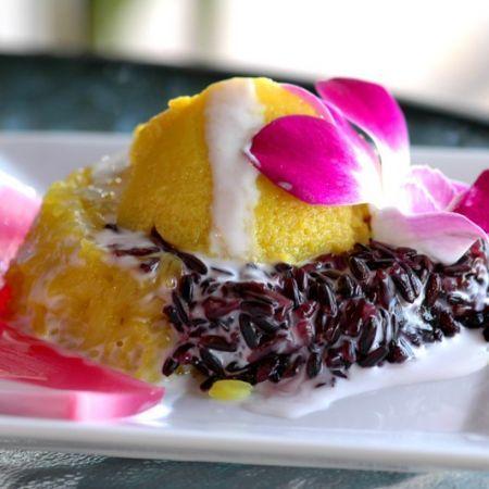 Thai custard and black sticky rice | Beautiful Edibles ...