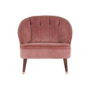 Margot Fauteuil Oudroze Fluweel Pink Chair Chair Armchair