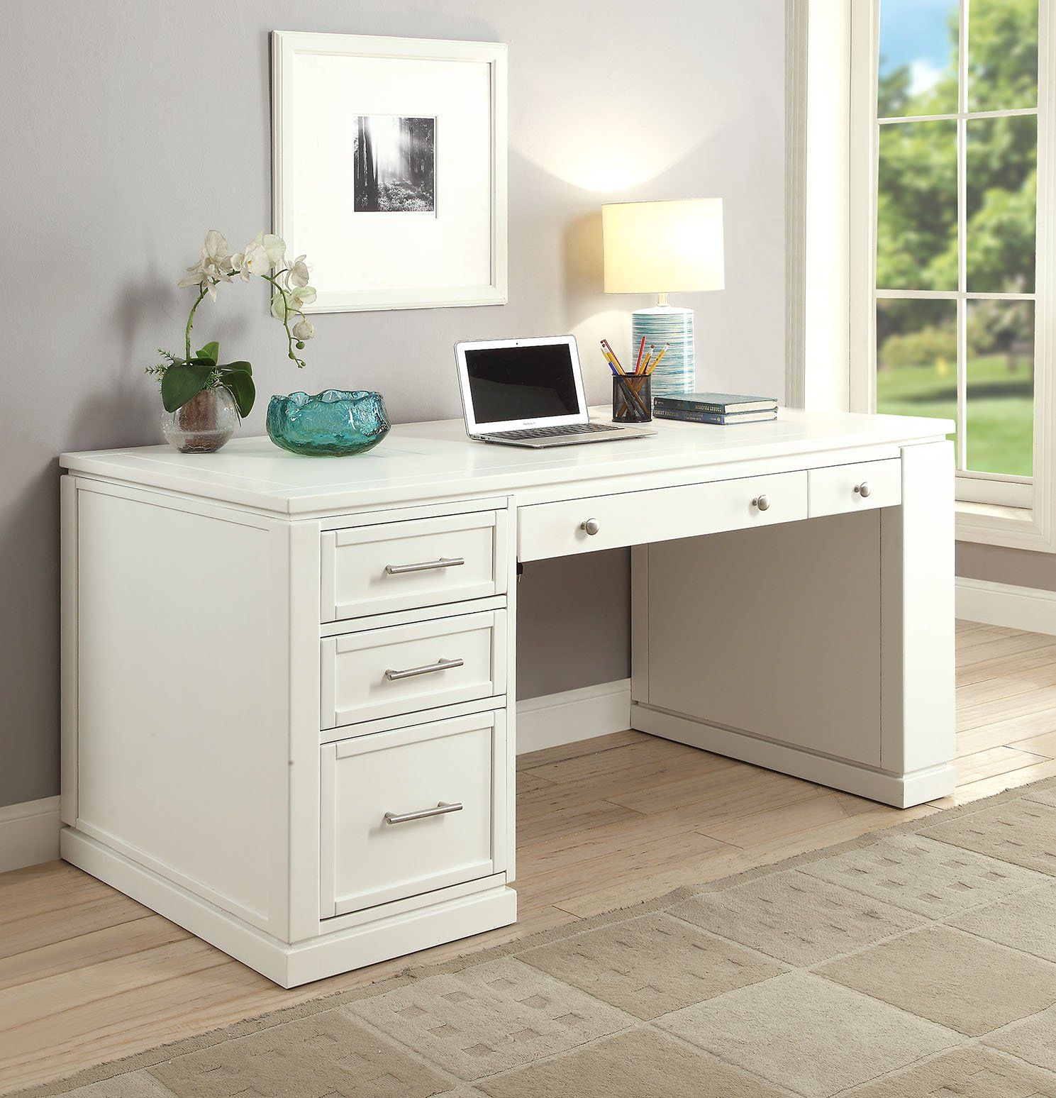 White Modern Office Desk Catalina Rc Willey Furniture Store White Desk Office Modern Office Desk Cheap Office Furniture