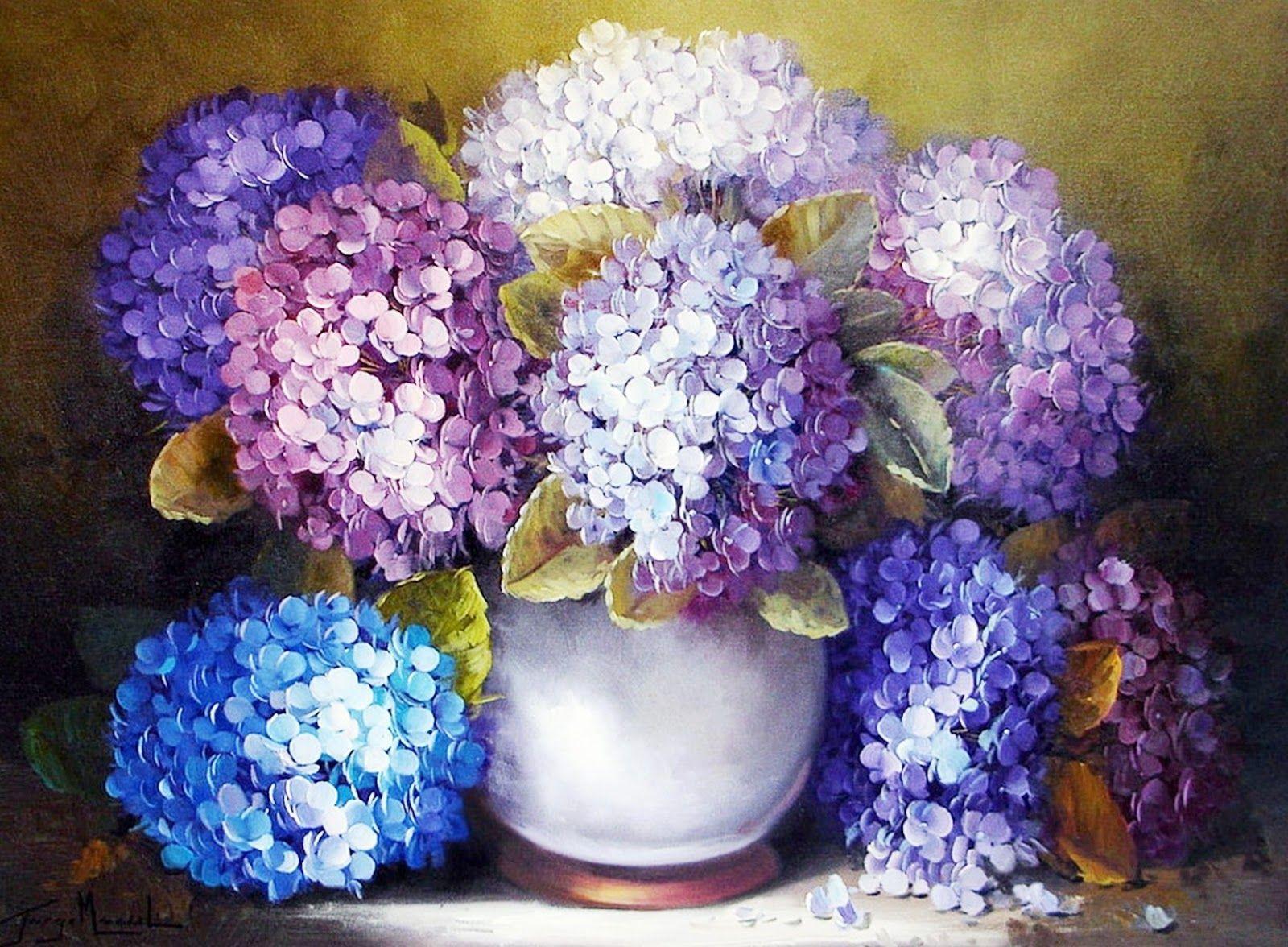 Bodegones de flores pintados al leo bodegones y - Cuadros bodegones modernos ...