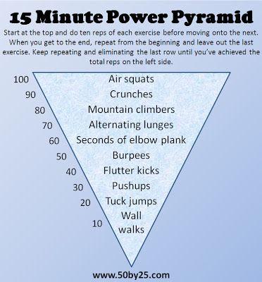 15 Minute Power Pyramid Pyramids Full Body Workout Fitness Body