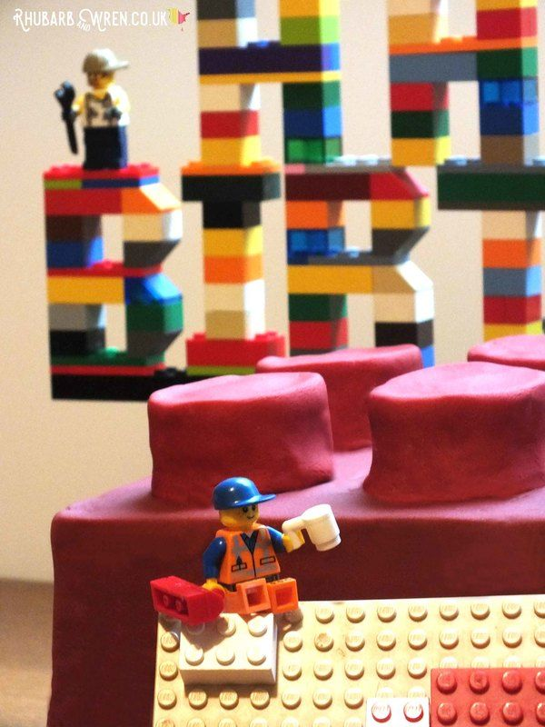 Happy Birthday Brick Lego Cake Recipe Pinterest Bricks Legos