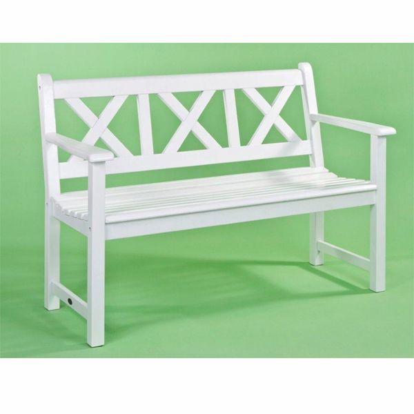 Magnificent Alexander Rose Drachmann 3 Seater Bench White Sf Garden Forskolin Free Trial Chair Design Images Forskolin Free Trialorg