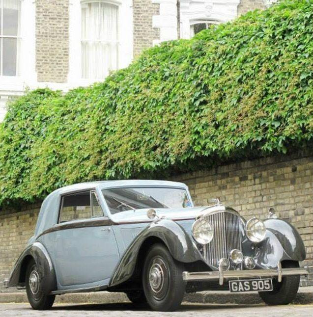 Classic 1936 Bentley 4 Derby Sports Saloon Sedan Saloon: 1938 Fixed-head Coupé By De Villars (chassis B8MR